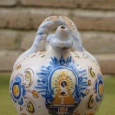Antigüedades: BOTIJO PEQUEÑO ANTIGUO, EN CERAMICA DE NIVEIRO - TALAVERA DE LA REINA.. Lote 50750467