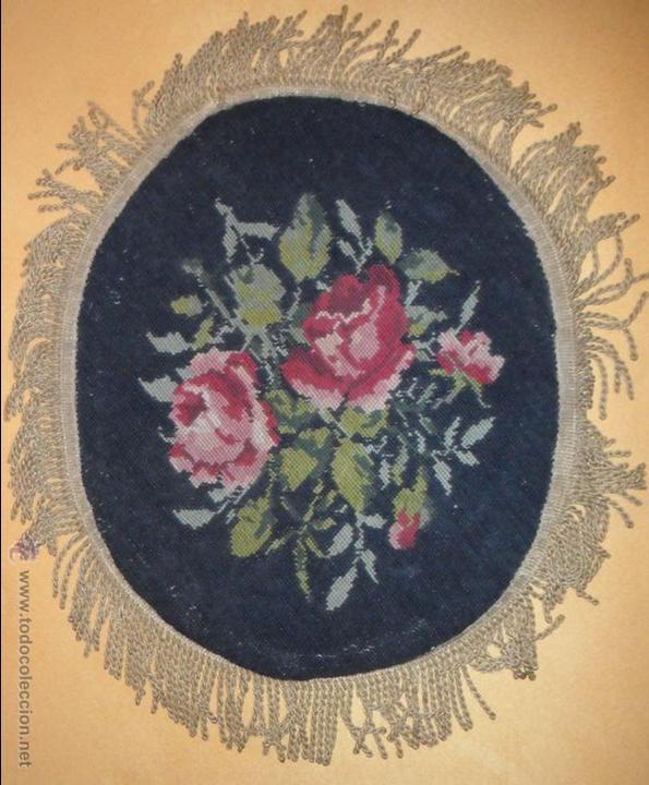 Antigüedades: Bordado siglo XIX - petit point - de colección - Foto 10 - 50759510