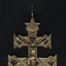 Antigüedades: Z-112- ANTIGUA CRUZ DE CARAVACA. Lote 50760127