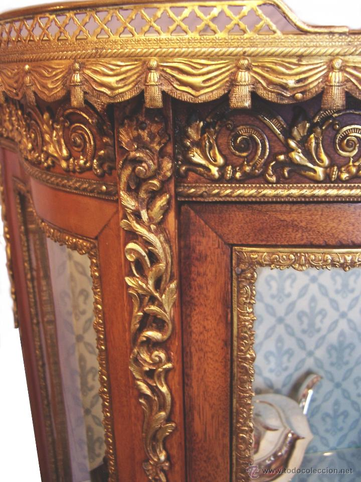 Antigüedades: VITRINA DE CAOBA EPOCA 1900 - Foto 2 - 50786066