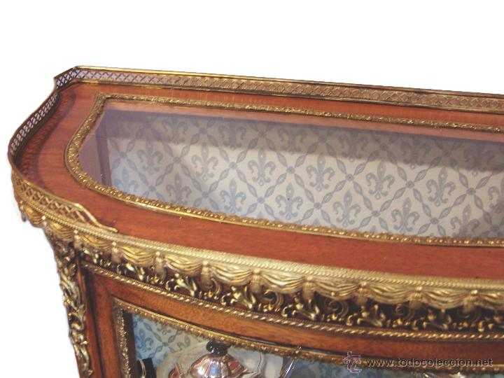 Antigüedades: VITRINA DE CAOBA EPOCA 1900 - Foto 3 - 50786066