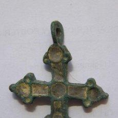 Antigüedades: CRUZ MEDIEVAL BIZANCIO-ESTE DE EUROPA SIGLO X-XII.BRONCE Y ESMALTE. Lote 50786234