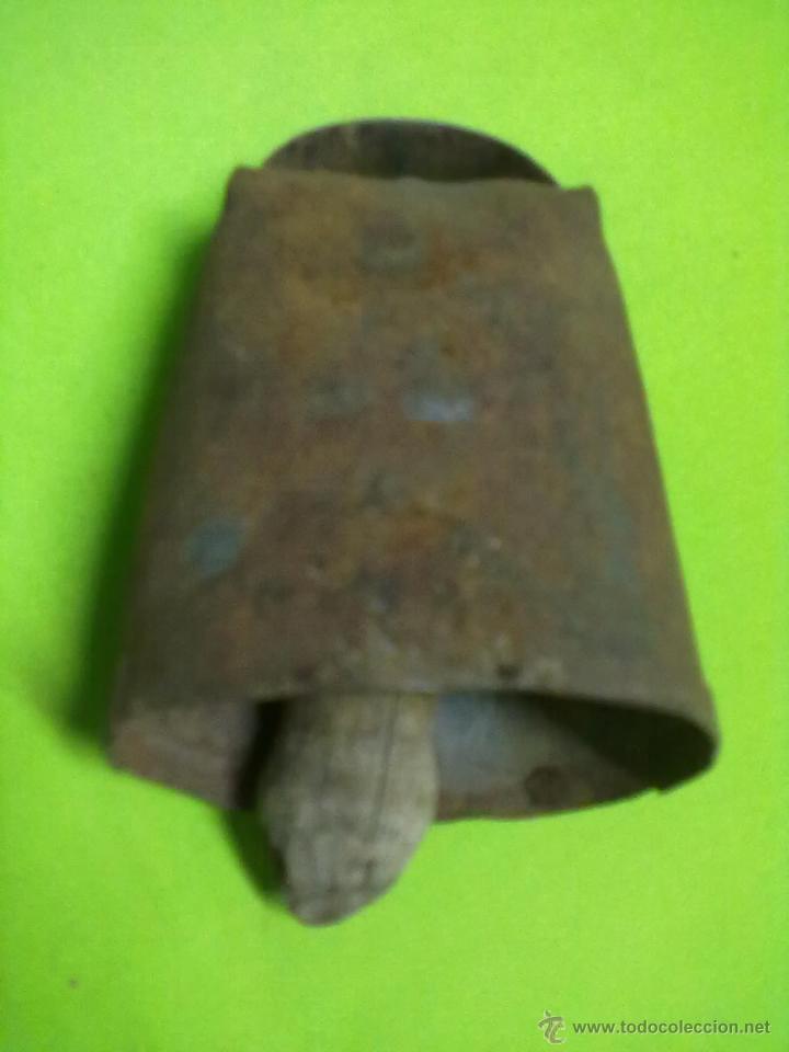 Antigüedades: CENCERRO HIERRO BADAJO MADERA - Foto 2 - 50790141