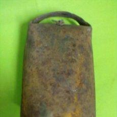 Antigüedades: CENCERRO HIERRO BADAJO MADERA. Lote 50790303