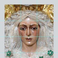 Antigüedades: PRECIOSO RETABLO DE 12 AZULEJOS 15X15CTM DE LA VIRGEN DE LA MACARENA DE SEVILLA. Lote 70084219