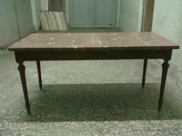 Mesa centro baja caoba encimera marmol rojo ere comprar - Encimera marmol precio ...