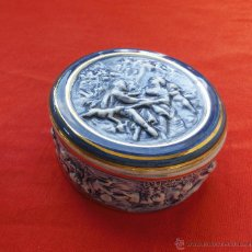 Antigüedades: JOYERO DE PORCELANA CAPODIMONTE. Lote 50823955