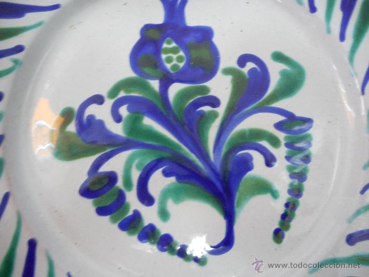Antigüedades: plato 23 cm diametro de fajalauza o alfajalauza ceramica - Foto 2 - 61162677