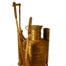 Antigüedades: FUMIGADOR DE LATON BACCHUS. Lote 50831715
