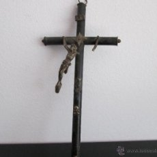 Antigüedades: CRUZ DE MADERA Y METAL VEAN DESCRIPCION. Lote 50854828