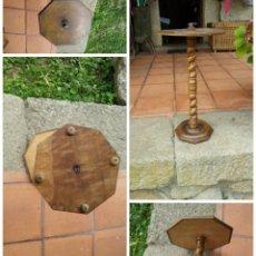 Antigüedades: ANTIGUO VELADOR CAOBA CUBANA. 58 X 31 X22.. Lote 50856417