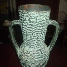 Antigüedades: JARRON DE BARRO COCIDO Y MONOCROMADO. Lote 50857405