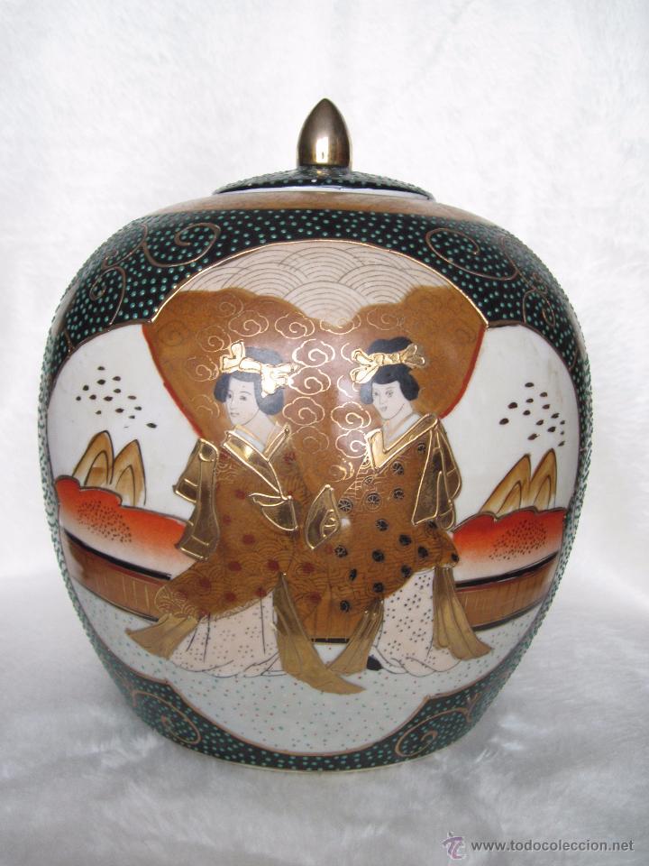 Antigüedades: JARRON TIBOR PORCELANA JAPONESA SATSUMA - Foto 8 - 49355706