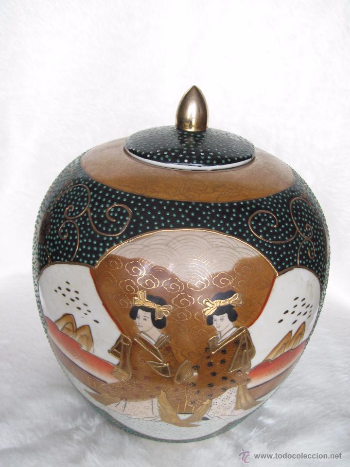 Antigüedades: JARRON TIBOR PORCELANA JAPONESA SATSUMA - Foto 9 - 49355706