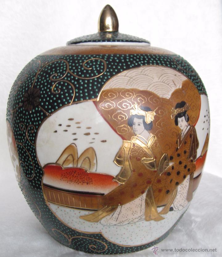 Antigüedades: JARRON TIBOR PORCELANA JAPONESA SATSUMA - Foto 10 - 49355706