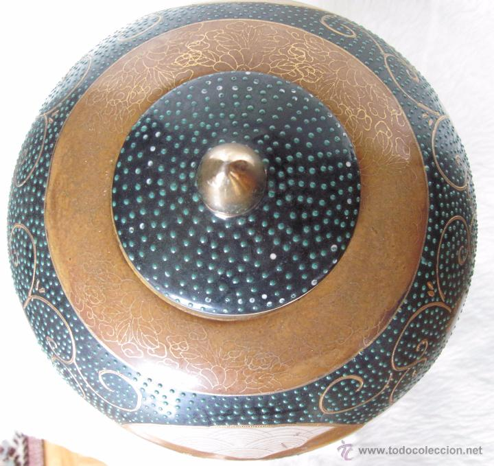 Antigüedades: JARRON TIBOR PORCELANA JAPONESA SATSUMA - Foto 11 - 49355706
