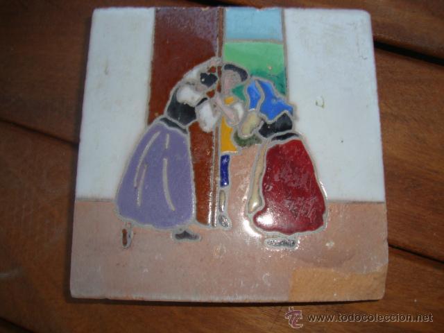 AZULEJO RAMOS REJANO QUIJOTE (Antigüedades - Porcelanas y Cerámicas - Azulejos)
