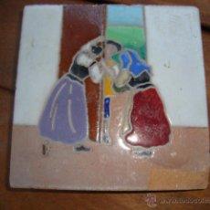 Antigüedades: AZULEJO RAMOS REJANO QUIJOTE. Lote 50876769