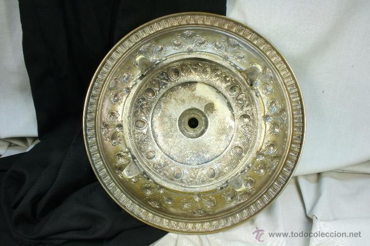 Antigüedades: Centro de mesa. Latón. Frutero. Art Nouveau. - Foto 4 - 50918357