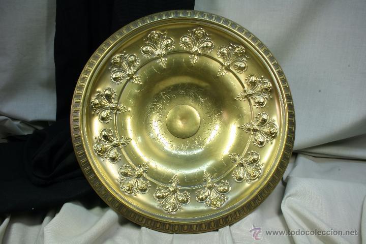 Antigüedades: Centro de mesa. Latón. Frutero. Art Nouveau. - Foto 6 - 50918357