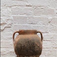 Antigüedades: TINAJA O ORZA ANTIGUA DE BARRO COCIDO,SIGLO XVIII APROX. Lote 50918727