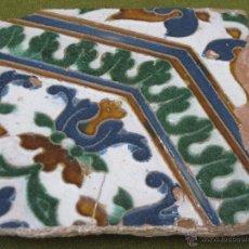 Antigüedades: AZULEJO ANTIGUO DE TOLEDO - TECNICA ARISTA O CUENCA - RENACIMIENTO - SIGLO XVI.. Lote 50922330