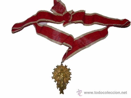 Antigüedades: ANTIGUA Y BONITA MEDALLA DE BRONCE APOSTOLADO DE LA ORACION DE STA.Mª. DEL PINO - Foto 3 - 45041732