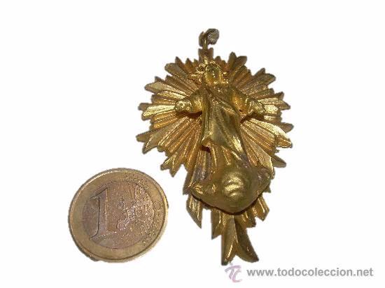 Antigüedades: ANTIGUA Y BONITA MEDALLA DE BRONCE APOSTOLADO DE LA ORACION DE STA.Mª. DEL PINO - Foto 4 - 45041732