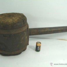 Antigüedades: ANTIGUA Y GRAN MAZA DE TONELERO - MADERA HIERRO - 45 CMS 3.5 KGS - MAZO -. Lote 50927015