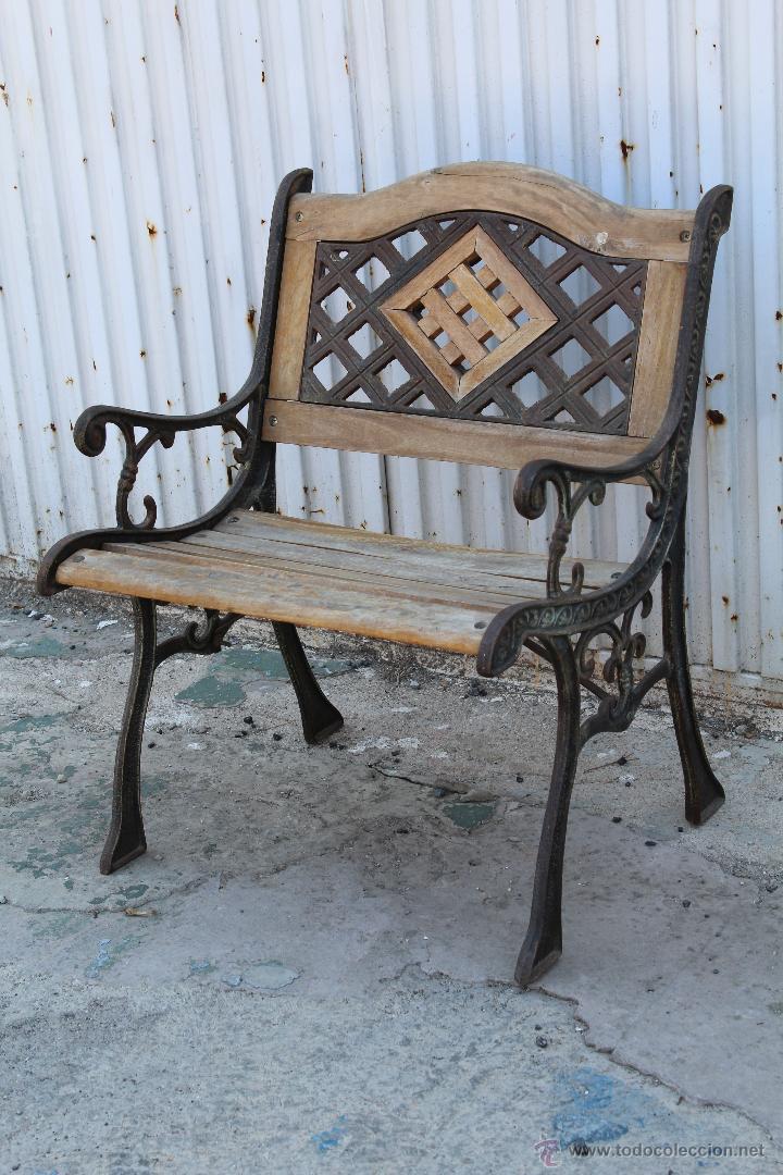 sillon de jardin en hierro fundido y madera - Comprar Sillones ...