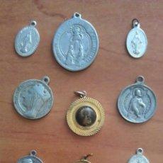 Antigüedades: LOTE DOCE MEDALLAS RELIGIOSAS -. Lote 50937883