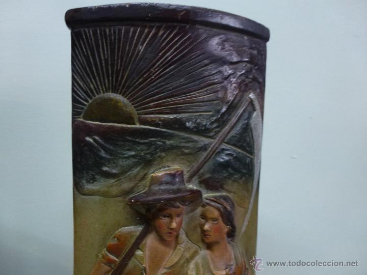 Antigüedades: Pareja de jarrones, floreros en terracota. Franceses, casa Depose - Foto 13 - 49542602