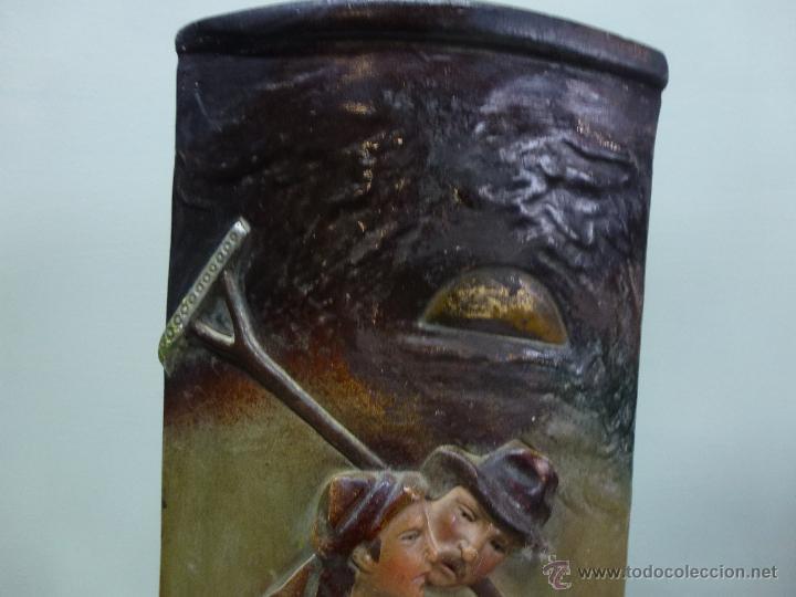 Antigüedades: Pareja de jarrones, floreros en terracota. Franceses, casa Depose - Foto 15 - 49542602