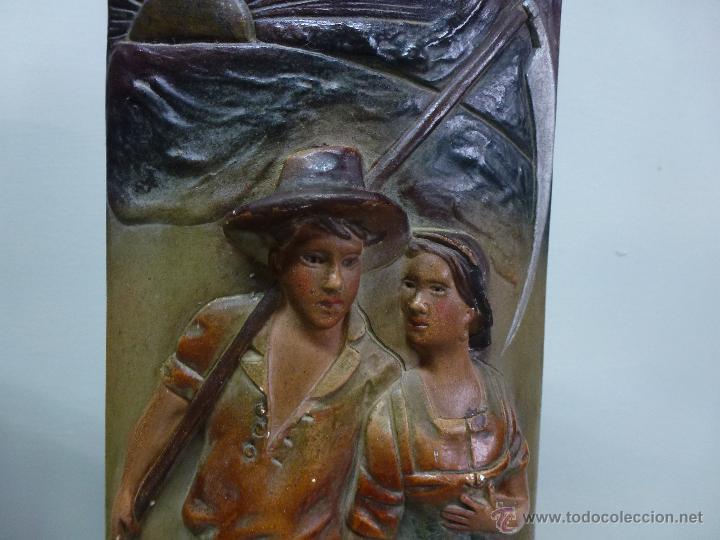 Antigüedades: Pareja de jarrones, floreros en terracota. Franceses, casa Depose - Foto 16 - 49542602
