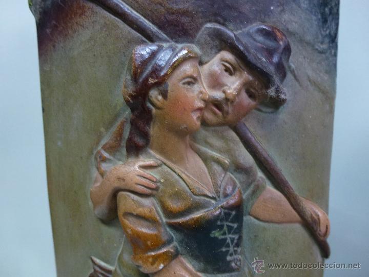 Antigüedades: Pareja de jarrones, floreros en terracota. Franceses, casa Depose - Foto 17 - 49542602