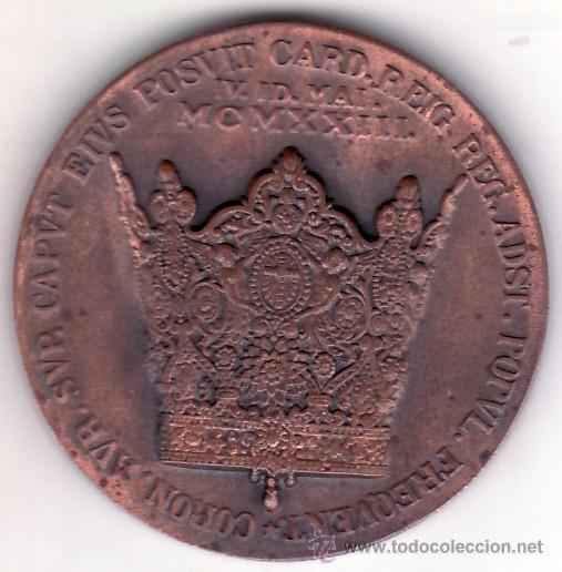 VALENCIA - 1923 - MCMXXIII - MEDALLA CONMEMORATIVA CORONACION DE LA VIRGEN DE LOS DESAMPARADOS 4 CM. (Antigüedades - Religiosas - Medallas Antiguas)
