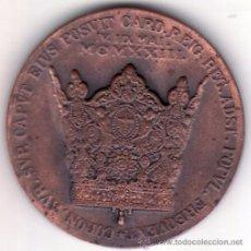 Antigüedades: VALENCIA - 1923 - MCMXXIII - MEDALLA CONMEMORATIVA CORONACION DE LA VIRGEN DE LOS DESAMPARADOS 4 CM.. Lote 50947217