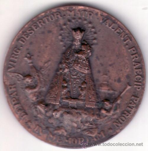 Antigüedades: VALENCIA - 1923 - MCMXXIII - MEDALLA CONMEMORATIVA CORONACION DE LA VIRGEN DE LOS DESAMPARADOS 4 CM. - Foto 2 - 50947217