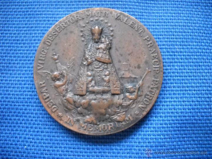 Antigüedades: VALENCIA - 1923 - MCMXXIII - MEDALLA CONMEMORATIVA CORONACION DE LA VIRGEN DE LOS DESAMPARADOS 4 CM. - Foto 3 - 50947217