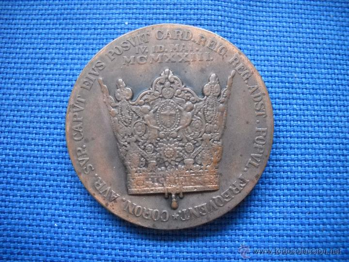 Antigüedades: VALENCIA - 1923 - MCMXXIII - MEDALLA CONMEMORATIVA CORONACION DE LA VIRGEN DE LOS DESAMPARADOS 4 CM. - Foto 4 - 50947217