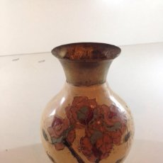 Antigüedades: ANTIGUO JARRON EN BRONCE ACABADO CLOISONNE ESMALTADO. Lote 50948167