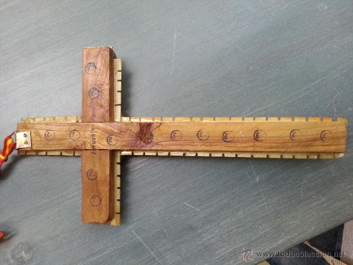 Antigüedades: antigua gran cruz pectoral crucifijo de mano cristo parroquial ... semana santa - Foto 6 - 50957363