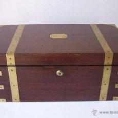 Antigüedades: CAJA ESCRITORIO CON CAJONES SECRETO. Lote 50961434