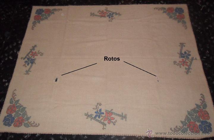Antigüedades: Antiguo mantel bordado - Foto 3 - 50968037