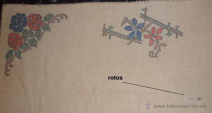 Antigüedades: Antiguo mantel bordado - Foto 4 - 50968037