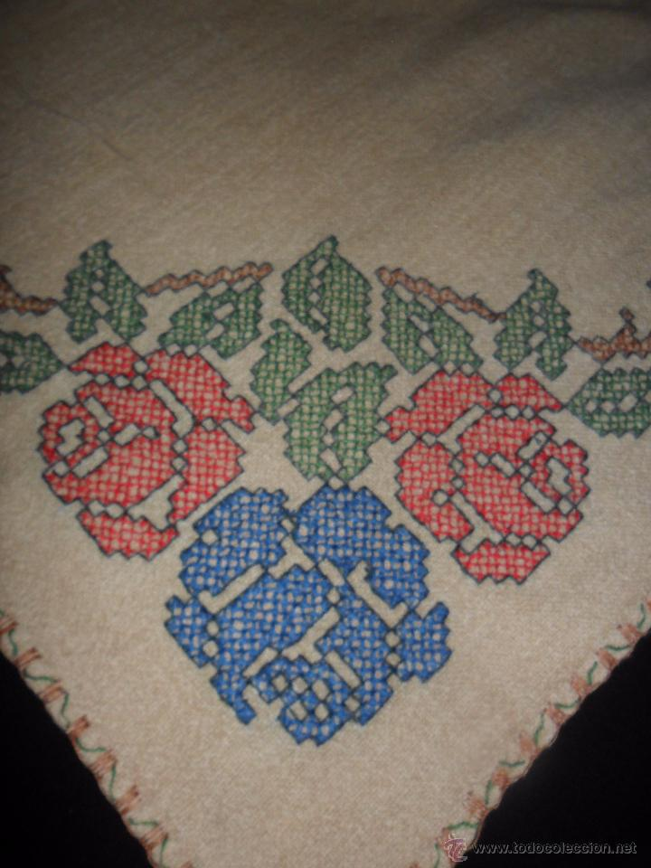 Antigüedades: Antiguo mantel bordado - Foto 6 - 50968037