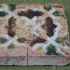 Antigüedades: AZULEJO ANTIGUO DE TOLEDO - TECNICA DE ARISTA - MUDEJAR - SIGLO XVI.. Lote 50973102