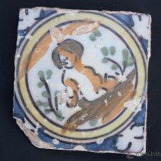 Antigüedades: AZULEJOS-OLAMBRILLAS TIPO DELFT, TRIANA (SEVILLA) S. XVIII. Lote 50975110
