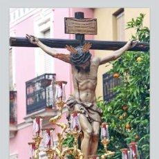 Antigüedades: PRECIOSO AZULEJO 40X25 DEL CRISTO DE SAN BERNARDO DE SEVILLA. Lote 50977676