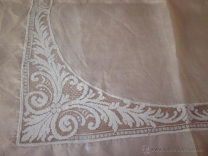 Antigüedades: Tapete color crudo 77 x 77 cnts - Foto 3 - 50992382